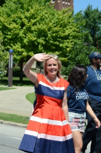 Debbie Dingell at the Ypsilanti 4th of July parade