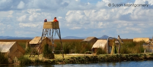 Lake Titicaca watch tower watchers