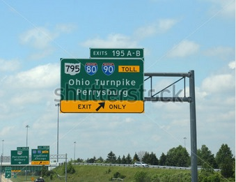 turnpike sign