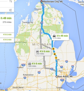 to Mackinaw