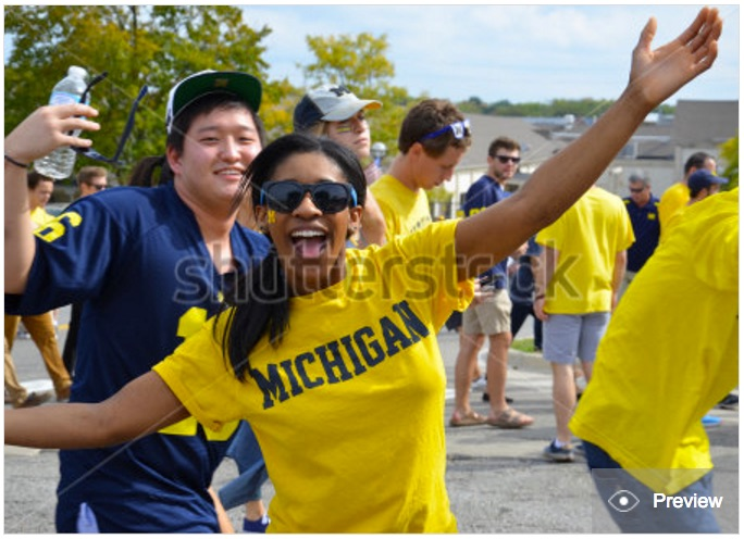 Shooting stock photos – Outside a UM football game