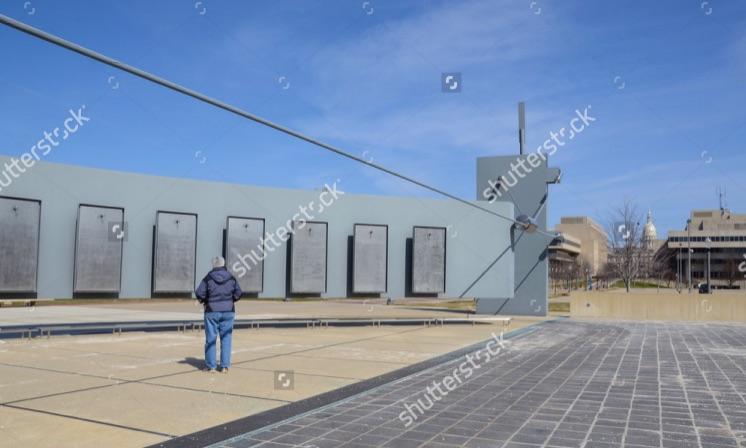 Lansing memorial with capitol