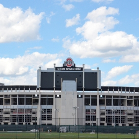 COLUMBUS, OH - JUNE 25: Ohio Stadium in Columbus, Ohio is shown on June 25, 2017. It is the home of the Ohio State University Buckeyes.