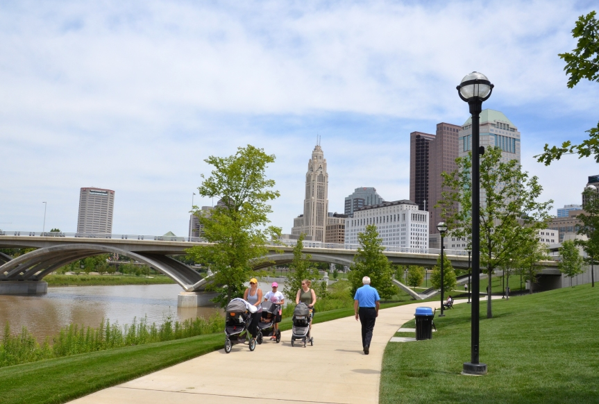 Scioto Mile, in downtown Columbus, OH